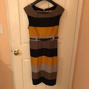 Shelby and Palmer Gold and Black striped Dress
